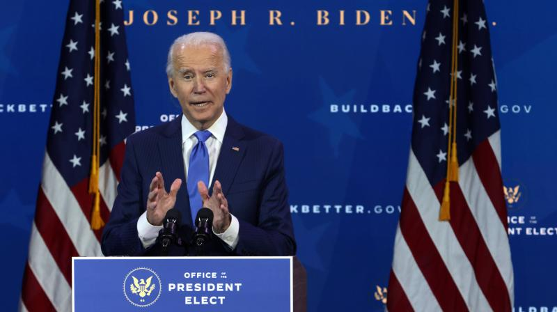 U.S. President-elect Joe Biden speaks during an event to name his economic team at the Queen Theater on December 1 in Wilmington, Delaware. (Alex Wong/Getty Images/AFP)