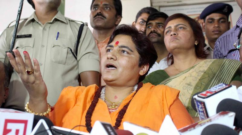 Sadhvi Pragya Singh Thakur comment came in response to a grievance raised by a BJP worker here over the issues faced by people due to lack of cleanliness and hygiene in the area. (Photo: PTI)