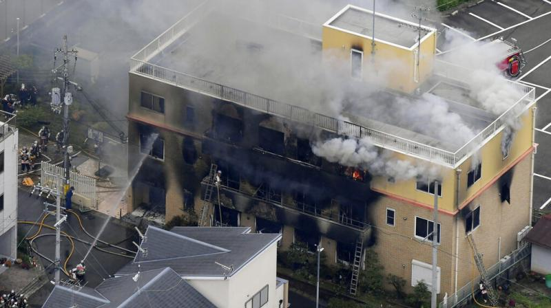The blaze started in the three-story building in Japan's ancient capital after the attacker sprayed an unidentified liquid accelerant, police and fire officials said. (Photo: File)