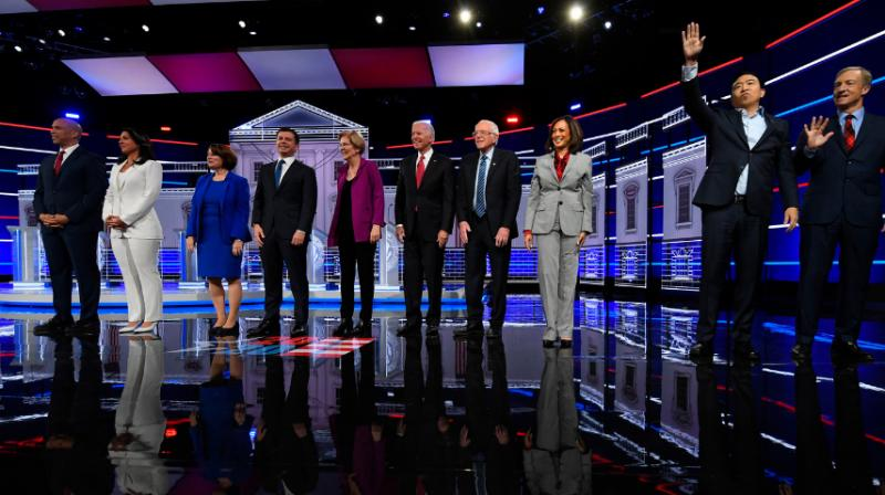 There are seven more Democrats without promising polling who will just be hoping for the chance to shine before a prime-time debate audience, including Sens. Kamala Harris of California, Cory Booker of New Jersey and Klobuchar. (Photo: AP)