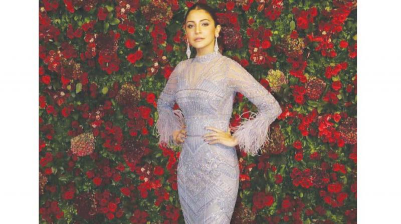 Anushka Sharma's lavendar gown has just the right amount of colour.
