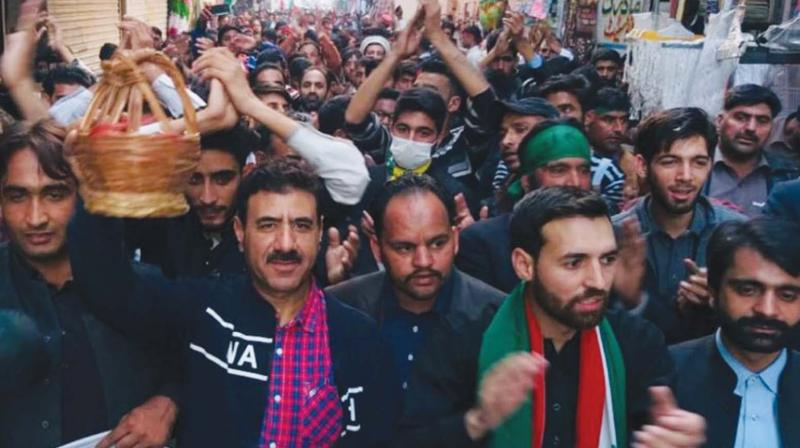 Pro-independence JKLF activists' during a march in Kotli town of PoK on Nov. 26, 2018.