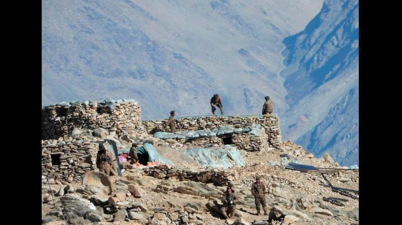 On September 8, 1962, units of China's People's Liberation Army had surrounded a small Indian Army post at Tsenjang on the northern bank of the Namka Chu stream just below the disputed Thagla ridge at the India-Bhutan-Tibet trijunction. Representational Image. (Twitter)