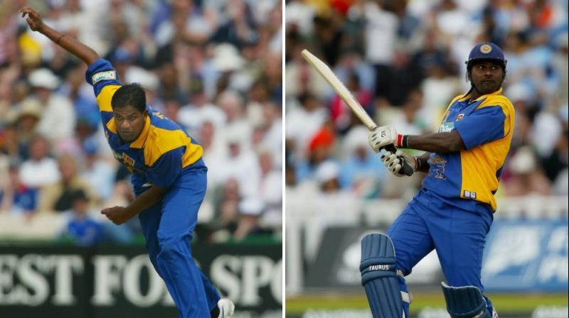 Avishka Gunawardene was a head coach and Nuwan Zoysa was a fast bowling coach of the Sri Lankan players. (Photo: ICC/Twitter)