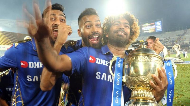 Lasith Malinga was triumphant in restricting Chennai Super Kings to 148 runs, leading MI to lift the IPL trophy. (Photo: BCCI)