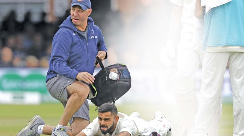 Virat Kohli is in race against time to be fit for the third Test. (Photo: AP)