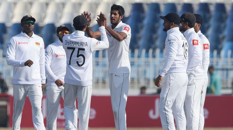 Sri Lankan fast bowler Kasun Rajitha is likely to miss the second Test against Pakistan in Karachi, it is learnt here. (Photo:AFP)