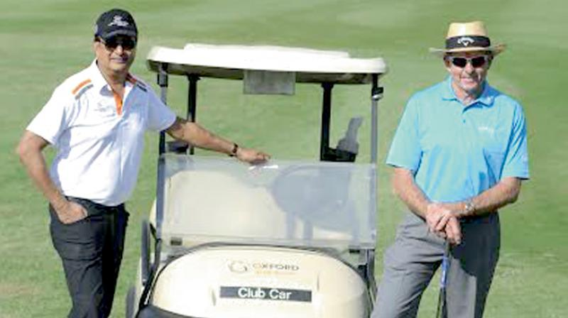 Golfing legend David Leadbetter (right) and Anil Soelaker, chief promoter of the Oxford Golf Resort near Pune, at the launch of the former's academy.