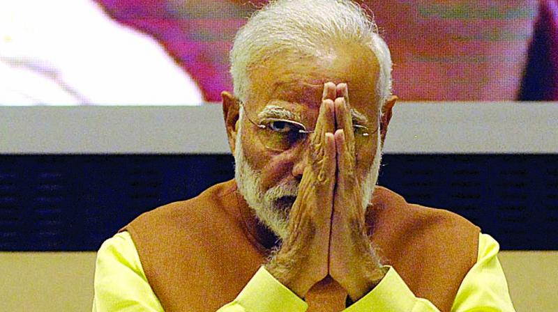 PM Modi on Wednesday wrote in his blog that people voted decisively in the 2014 general elections for 'honesty over dynasty' and 'development over decay'. (Photo: File)