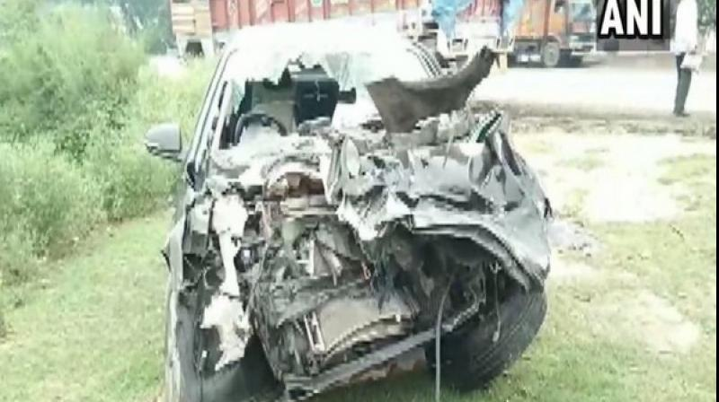Two others also died while one passenger got critically injured in the accident. (Photo: ANI)