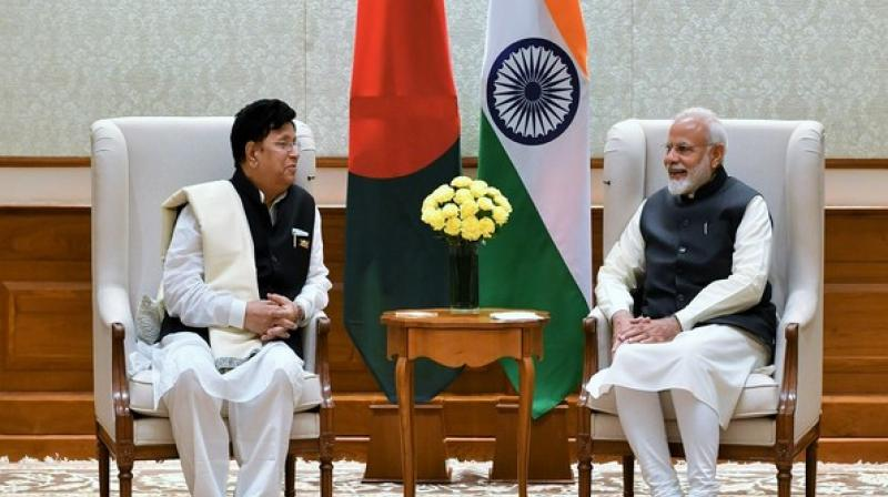 Modi congratulated Momen on his appointment as the Foreign Minister and appreciated his gesture of selecting India as the destination for his first foreign visit. (Photo: PMO Twitter)