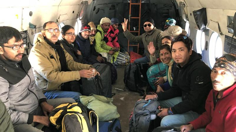 Apart from the one's rescued, around 200 people are still stranded in areas of Lahaul and Spiti. (Photo: ANI/Twitter)