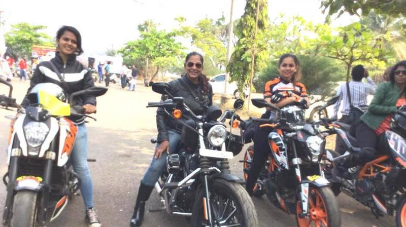 Women bikers riding with a mission. (Photo: Facebook / Bharat Petroleum Corporation Limited)