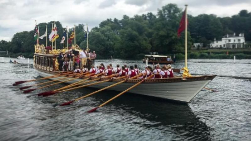 Queen Elizabeth II's stately royal barge. (Photo: Instagram / dougporter75)