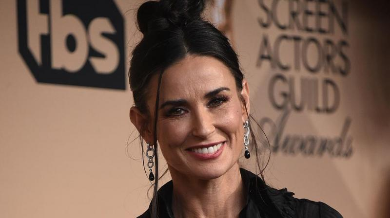 Actor Demi Moore. The movie was one of the first feature projects to go into production with the lifting of the lockdown and imposition of new safety restrictions. (AFP)