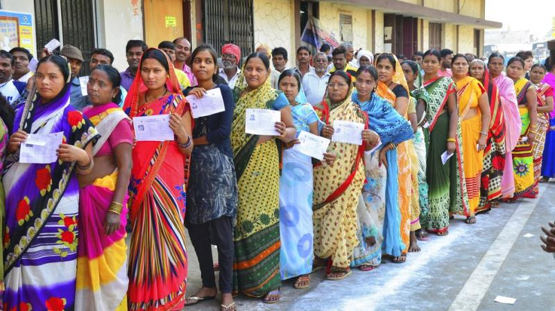 While polling began at 7 am in two of the 19,336 booths, the rest followed the usual time of 8 am to 5 pm. (Photo: PTI)
