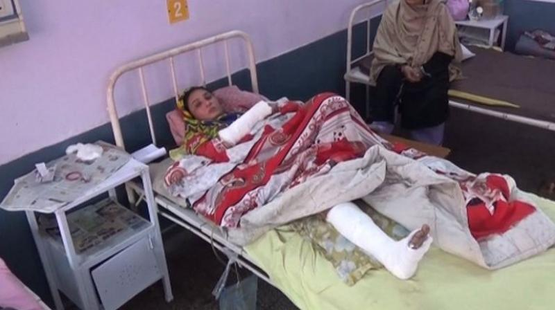 The woman has suffered a broken arm and a fractured leg and is recuperating at the hospital. (Photo: ANI)