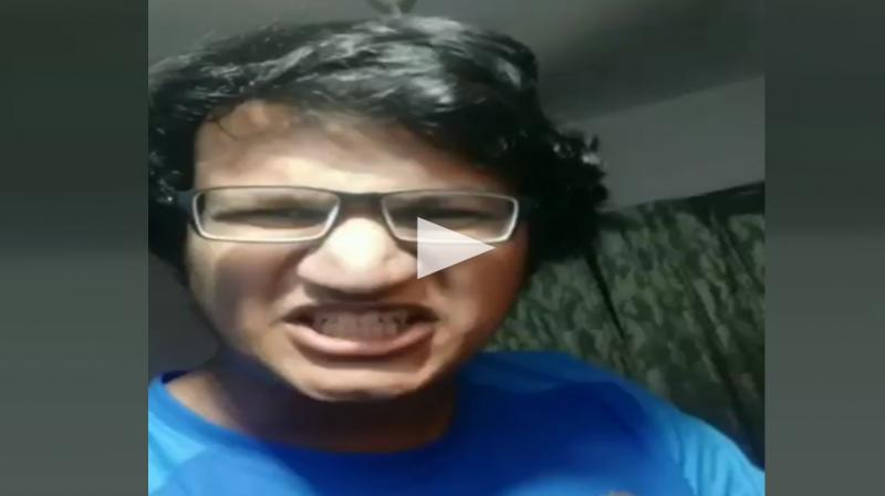 The fan whose name is Abhradeep Saha, popularly known as angry rantman, took to twitter to share his anger and disappointment over the social media site. (Photo: screengrab/twitter)