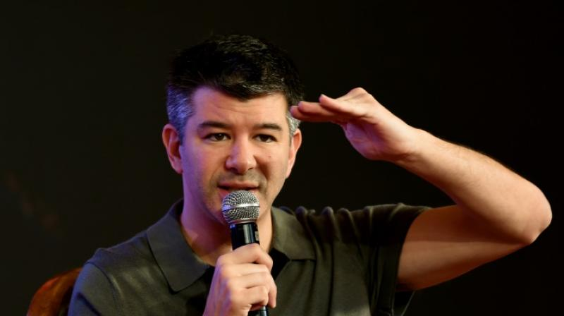Kalanick, who helped found Uber in 2009 and once exerted nearly complete control, stepped down as chief executive in June 2017 under pressure from investors after a string of setbacks.(Photo: AFP)