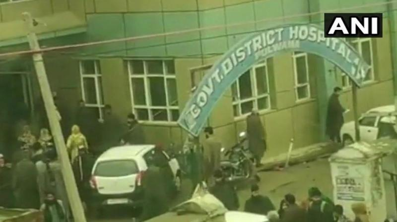 10 students have been injured in an explosion in school in Jammu and Kashmir's Pulwama on Wednesday. (Photo: ANI | Twitter)