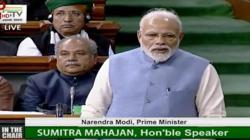 PM Modi said that world today is discussing the issue of global warming and India has made an effort for the formation of the International Solar Alliance to combat this problem. (Photo: ANI   Twitter)