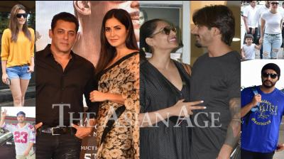 Bollywood celebrities like Salman Khan, Katrina Kaif, Kareena Kapoor Khan, Taimur, Arjun Kapoor, Varun Dhawan and others snapped in Mumbai. (Photos: Viral Bhayani)