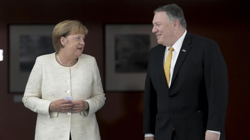 Pompeo urged close ally Britain this month not to use Huawei's technology to build new 5G networks. (Photo:AP)