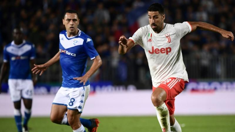 Juventus midfielder Sami Khedira has been ruled out for three months after undergoing knee surgery, the Italian champions said on Wednesday. (Photo:AFP)