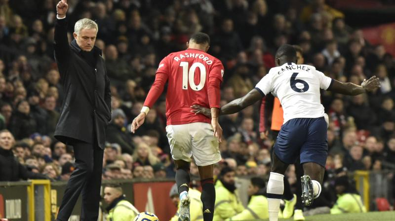 Jose Mourinho conceded his former club Manchester United had deserved their 2-1 Premier League victory over his new team Tottenham Hotspur on Wednesday and hailed the performance of Marcus Rashford. (Photo:AP)