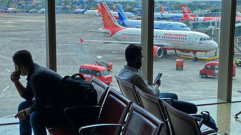 An Air India aircraft is pictured at a terminal of the airport in Mumbai. (Photo: AFP/File)
