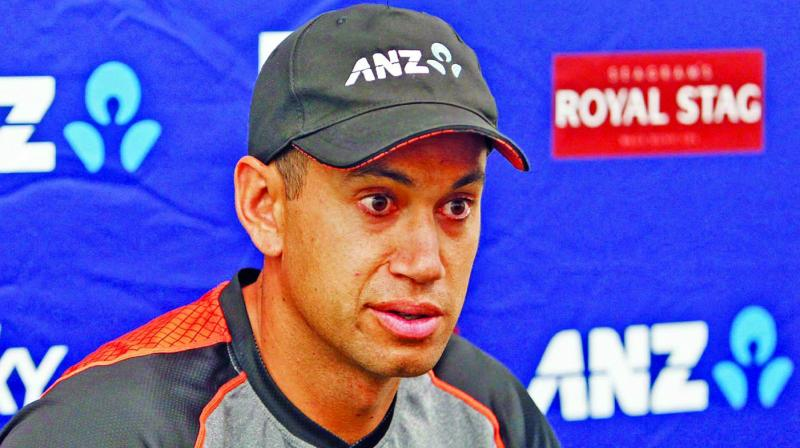 New Zealand's Ross Taylor during a press conference ahead of the first Test against India. (Photo: Twitter)
