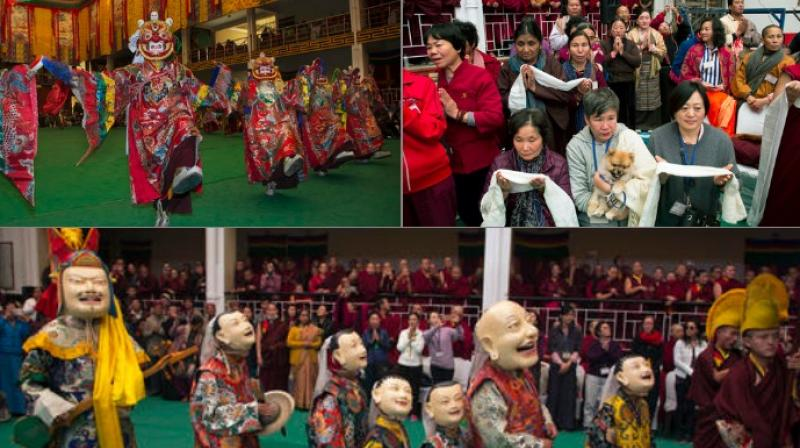 These traditional dances are performed to celebrate the life of the 8th century Indian seer Padmasambhava, who is revered by Tibetans for his role in spreading Buddhism in Tibet.
