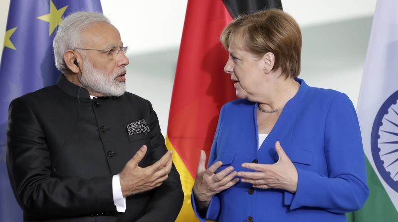 Prime Minister Narendra Modi will meet German Chancellor Angela Merkel during a stopover in Berlin on April 20.