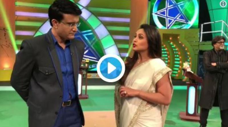 Screenshot of the video from Rani Mukerji and Sourav Ganguly's video. (Photo: Twitter)