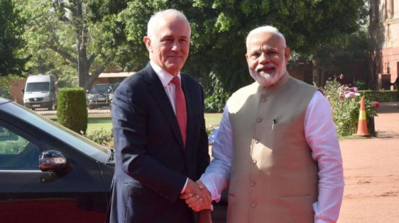 Australian PM Malcom Turnbull and Prime Minister Narendra Modi (FIle Photo)