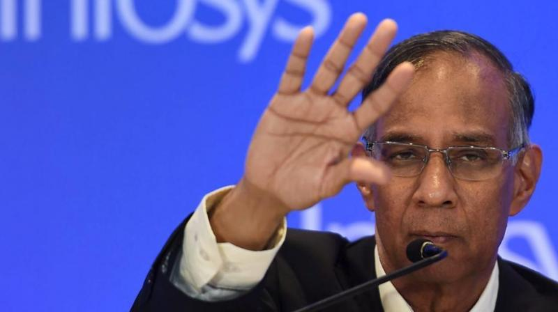 R Seshasayee, Infosys board chairman, had on Friday said the company was committed to returning shareholders money. (Photo: PTI)