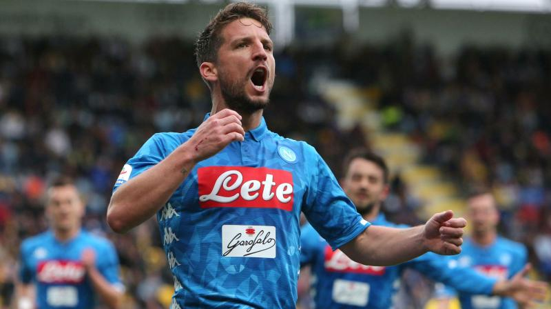 Mertens scored the opener with a perfectly executed free kick around Frosinone's wall into the near top corner. (Photo: AP)