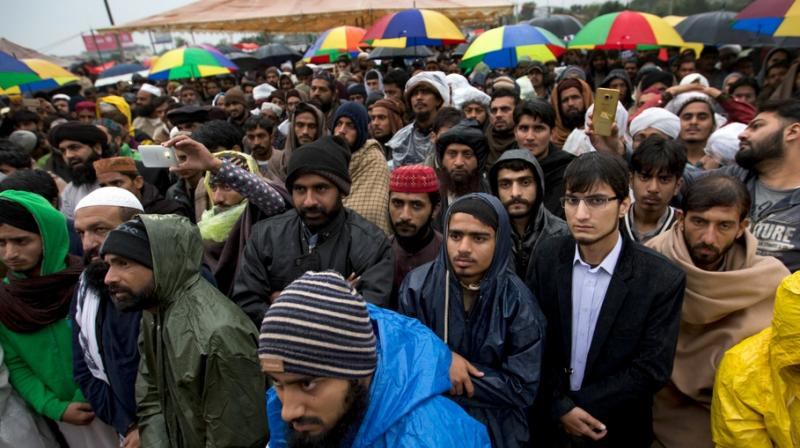 Hundreds of Tehrik-e-Labbaik supporters had been camping at the Faizabad Interchange since November 6. (Photo: AFP)