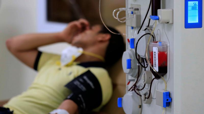 Though the AP govt has announced financial incentives to plasma donors, there is no clarity as to who will release that amount to the donor. (Representaional Image: AFP)