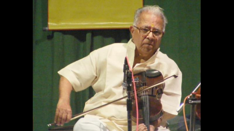 Violin maestro TN Krishnan