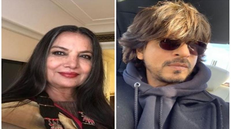 Shabana Azmi and Shah Rukh Khan. (Photo: Twitter/ANI)
