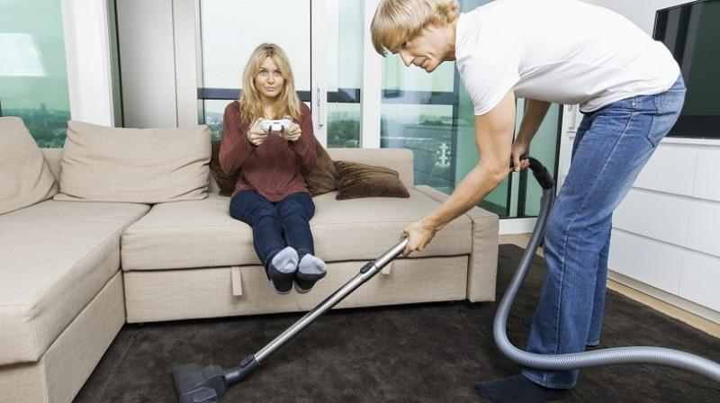 Fighting over household work is known to be a major cause for divorces in the US (Photo: AFP)