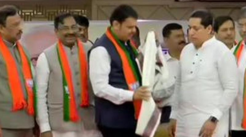 The MLAs joined the ruling party in the presence of Chief Minister Devendra Fadnavis and state BJP unit president Chandrakant Patil on Wednesday morning. (Photo: ANI)