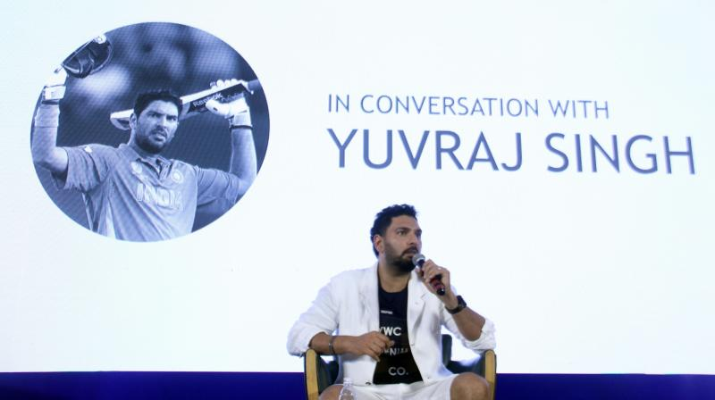 Yuvi's all-round performance in the 2011 World Cup earned him the player of the tournament award.  (Photo: Mrugesh Bandiwadeka)