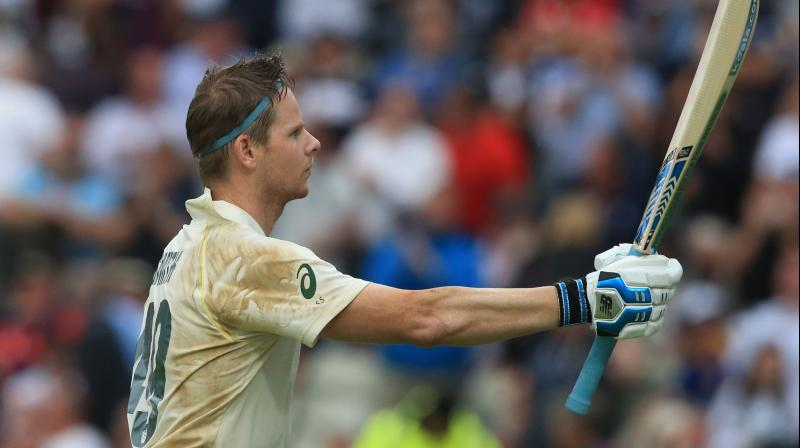 Former captain Steve Smith, who had made a superb 144 in the first innings of his first Test since completing a 12-month ban for his role in last year's ball-tampering scandal in South Africa, was 46 not out. (Photo:AFP)