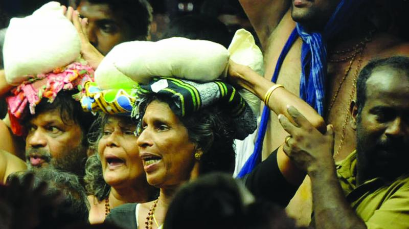 The women said they would not like to create any bad situation in the state because of their desire to go to Sabarimala. (Representational Image | PTI)