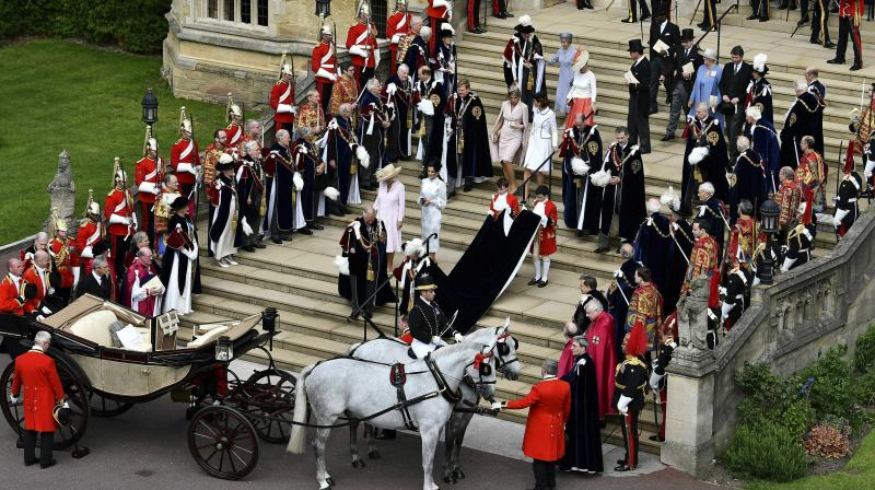 British, Dutch and Spanish Royals gather for the Order of the Garter Service