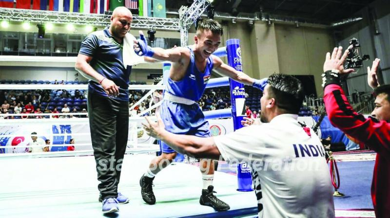 Navyman Nutlai LalBaikkima after the quarter finals
