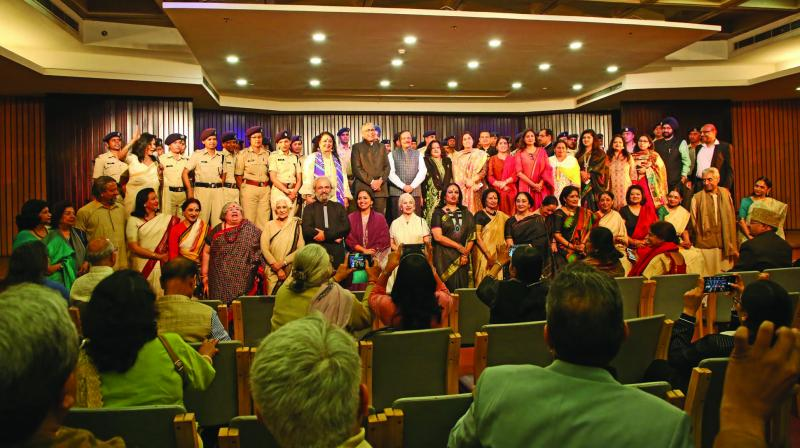 A scene from the event at the India International Centre, New Delhi