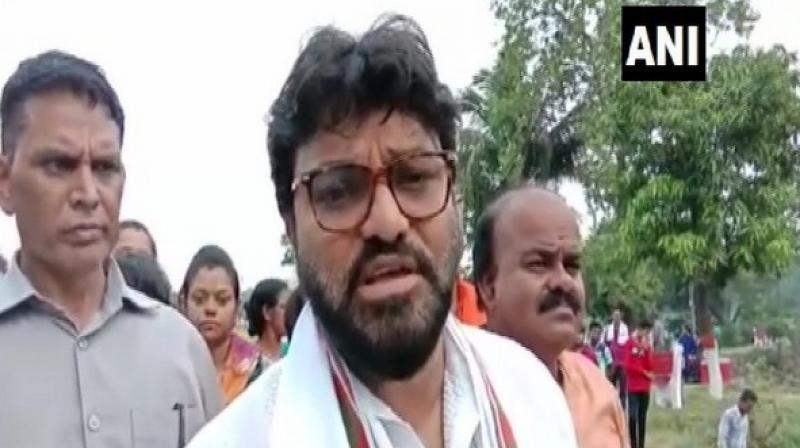 'Chief Minister herself is provoking violence in the state and employing party workers and police for it,' Supriyo said. (Photo: ANI)